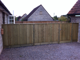 New close board Jackson fencing