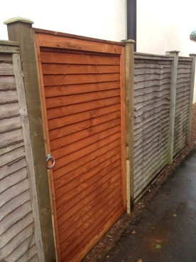 New gate installed into existing fence