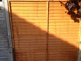 New replacement fence panel