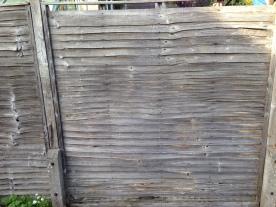 Old broken fence panel