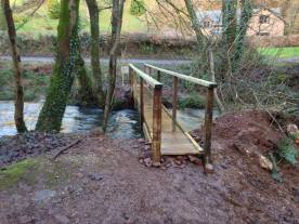 New foot bridge