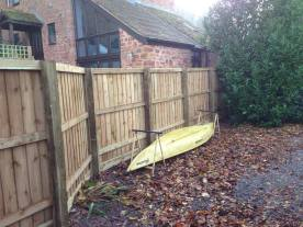 New close board fencing