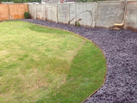 Lawn extension and chippings